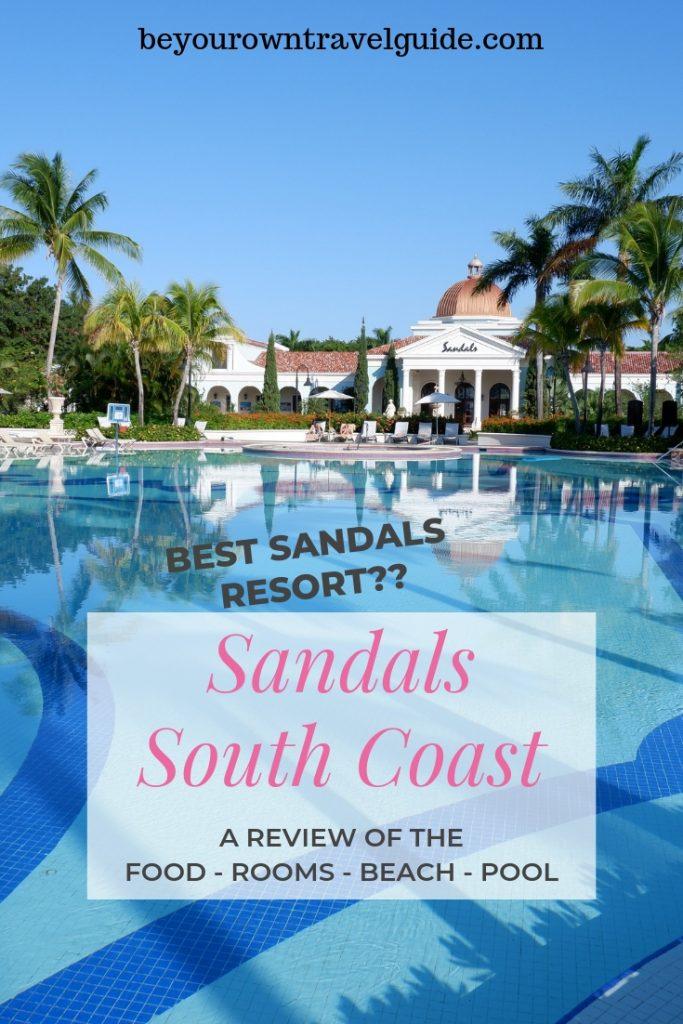 Best Sandals Resort Pin
