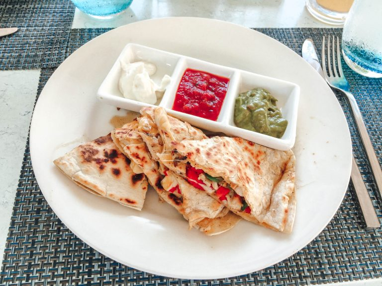 Sandals Jamaica South Coast food quesadilla