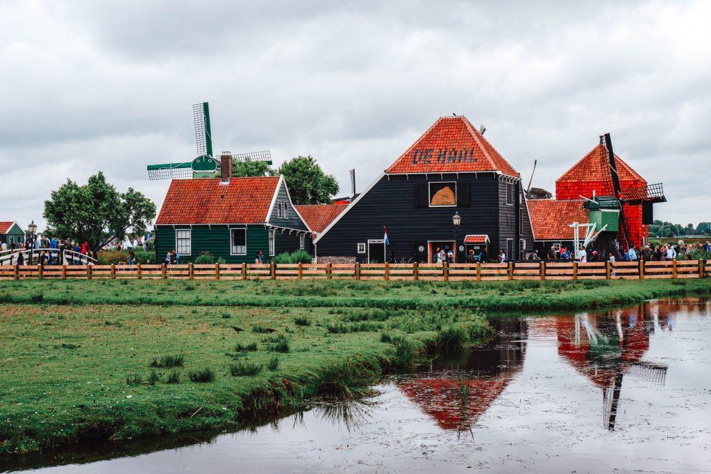 houses windmill zaanse schans