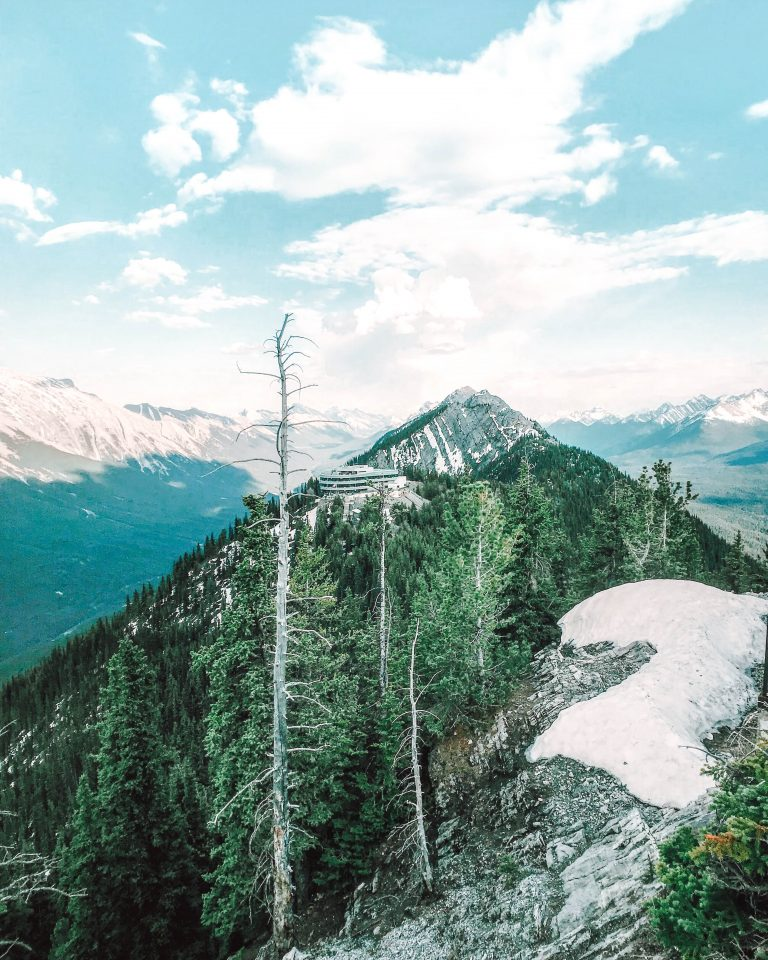 Banff boardwalk view sulphur mountain