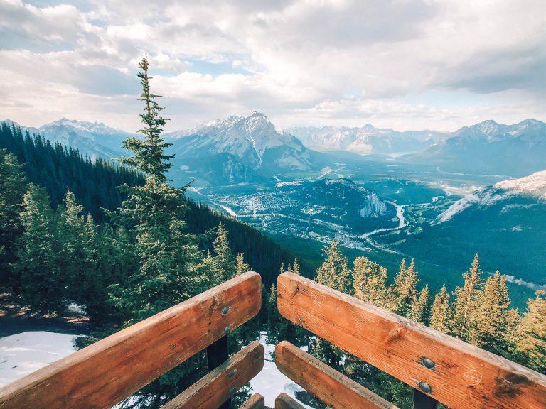Banff gondola view boardwalk